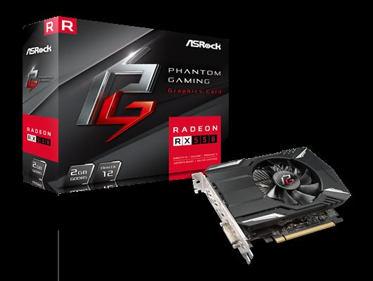 Asrock Phantom Gaming Radeon RX550, 2GB DDR5, PCIe3, DVI, HDMI, DP,1230MHz Clock