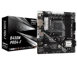 Asrock B450M PRO4-F, AMD B450, AM4, Micro ATX, 4 DDR4
