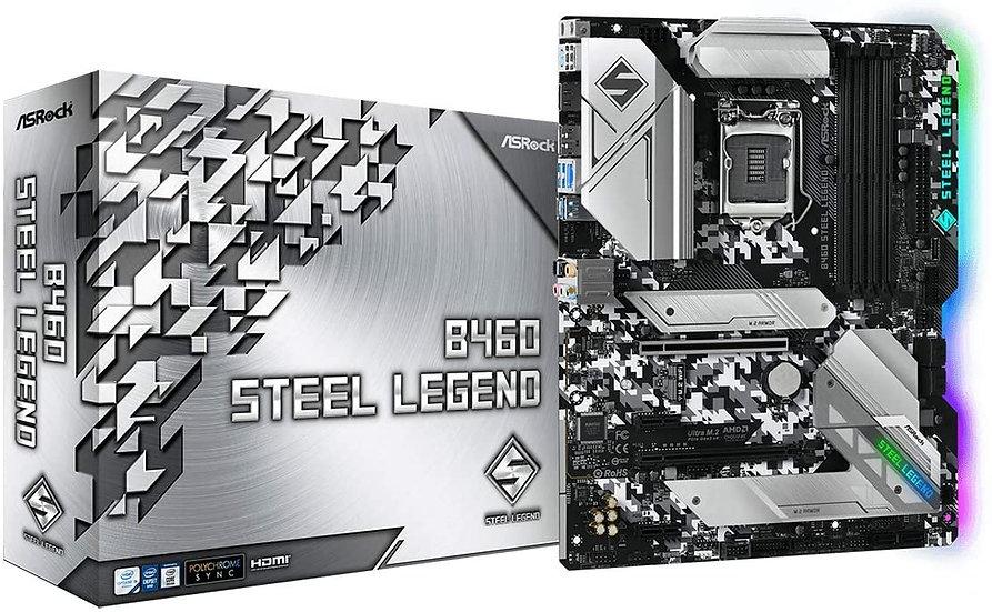 Asrock B460 STEEL LEGEND, Intel B460, 1200, ATX, 4 DDR4, HDMI, DP, XFire, 2.5GB