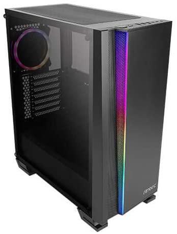 Antec NX500 E-ATX Gaming Case with Window, No PSU, Tempered Glass, ARGB Rear Fan