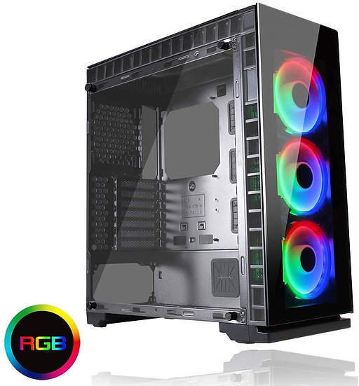 GameMax Spectrum Tempered Glass RGB Mid-Tower Gaming Case