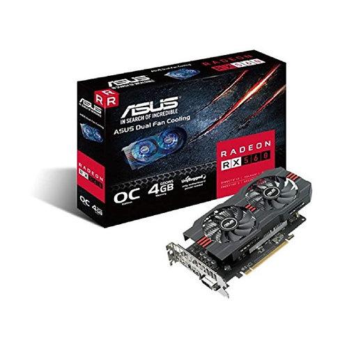 Asus Radeon RX560 OC, 4GB DDR5, PCIe3, DVI, HDMI, DP, 1336MHz Clock