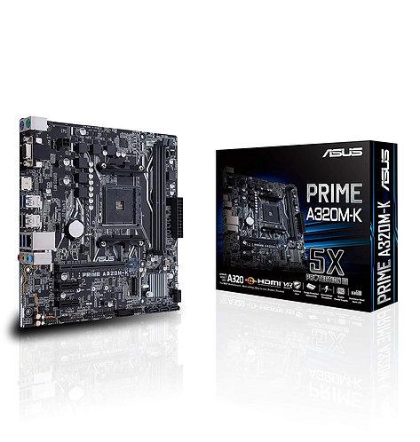 Asus PRIME A320M-K, AMD A320, AM4, Micro ATX, 2 DDR4