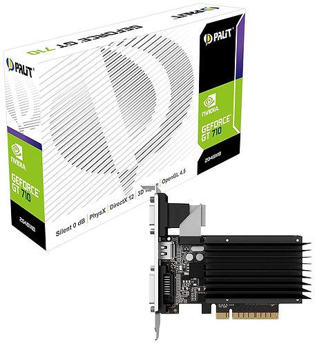 Palit GT710, 2GB DDR3, PCIe2, VGA, DVI, HDMI, Silent, 954MHz Clock