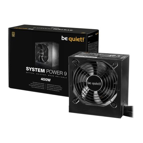 Be Quiet! 400W System Power 9 PSU, 80+ Bronze, Dual 12V, Cont. Power