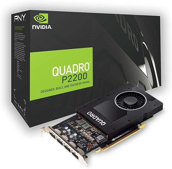 PNY Quadro P2200 Professional Graphics Card, 5GB DDR5X, 1280 Cores, 200GB/s, 3.8