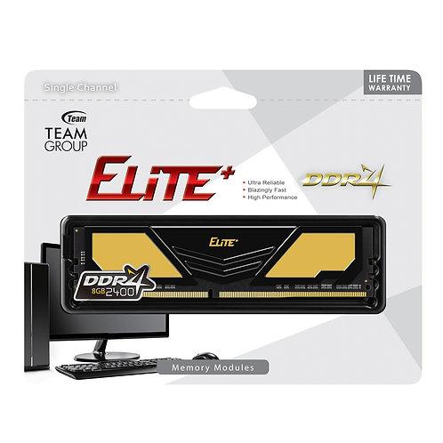 Team Elite 8GB Plus Black Heatsink (1 x 8GB) DDR4 2400MHz Black DIMM