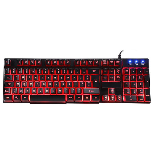 Evo Labs Builder RGB 7 Colour LED USB Gaming Keyboard