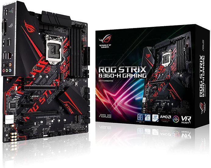 Asus ROG STRIX B360-H GAMING, Intel B360, 1151, ATX, DDR4, DVI, HDMI, XFire, RGB