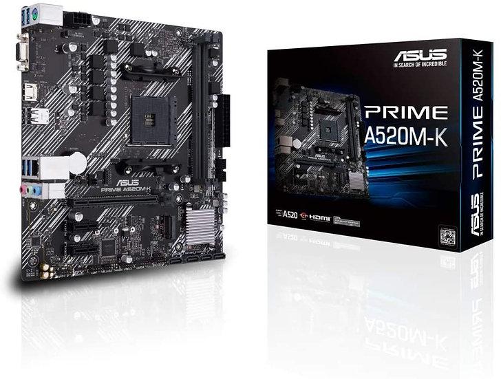 Asus PRIME A520M-K, AMD A520, AM4, Micro ATX, 2 DDR4, VGA, HDMI, M.2