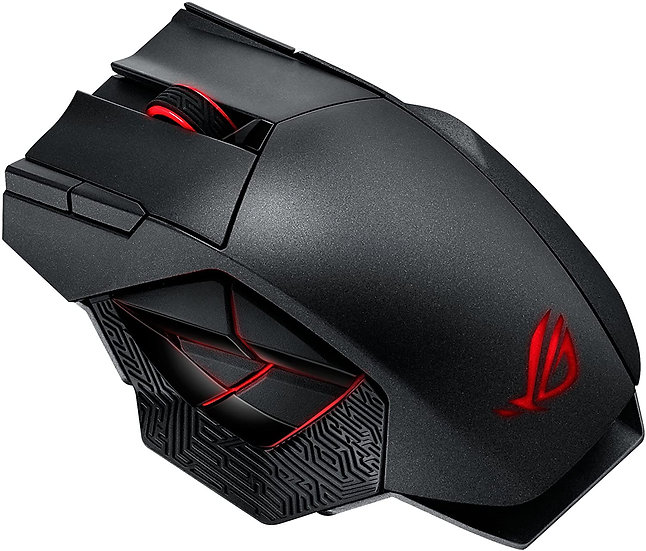 Asus ROG Spatha Gaming Mouse, Wired/Wireless, 8200 DPI, 12 Programmable Buttons