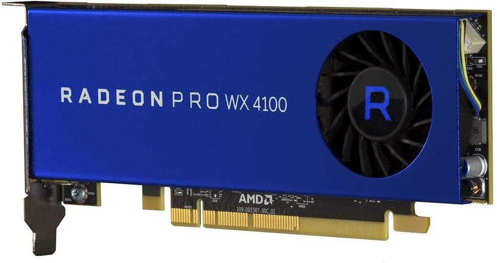 AMD Radeon Pro WX 4100 Professional Graphics Card, 4GB DDR5, 4 miniDP (4 x DP ad