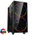 GameMax Black Hole ARGB Gaming Case 2x 20cm + 1x 12cm ARGB Fans 1x ARGB Hub