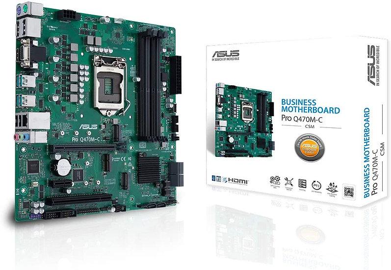 Asus PRO Q470M-C/CSM - Corporate Stable Model, Intel Q470, 1200, Micro ATX, 4 DD