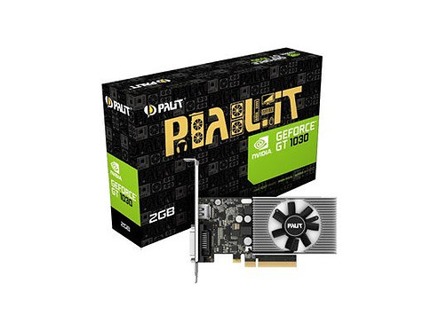 Palit GeForce GT1030, 2GB DDR4, PCIe3, DVI, HDMI, 1379MHz Clock