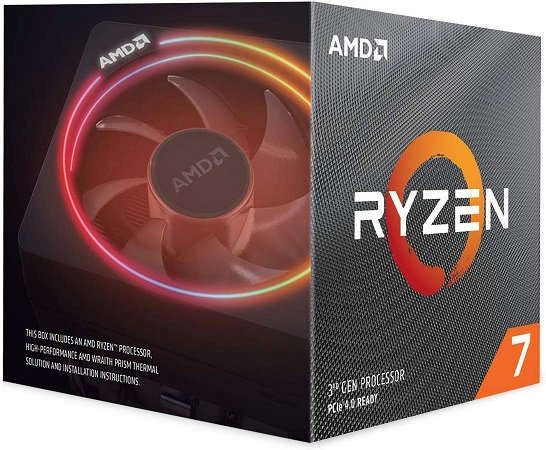 AMD Ryzen 7 3800x 3.9Ghz 8 Core AM4 Overclockable Processor Wraith Prism