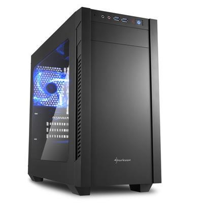 Sharkoon S1000 WINDOW Black Mini Tower Case (M-ITX/M-ATX)
