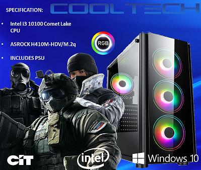 CTBB56 Intel i3 10100 Comet Lake - BAREBONES PC NO RAM NO SSD - PRE-BUILT SYSTEM