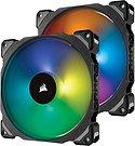 Corsair ML140 Pro 14cm PWM RGB Case Fans x2, Magnetic Levitation Bearing, Lighti