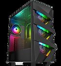 GameMax Vengeance 4x ARGB Fans 3pin Hub RF Remote TG Side Panel