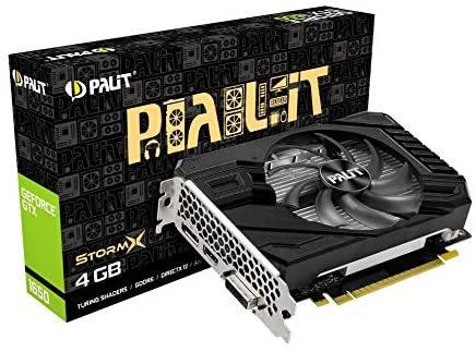 Palit GTX1650 StormX D6, 4GB DDR6, DVI, HDMI, DP, 1590MHz Clock, Compact Design