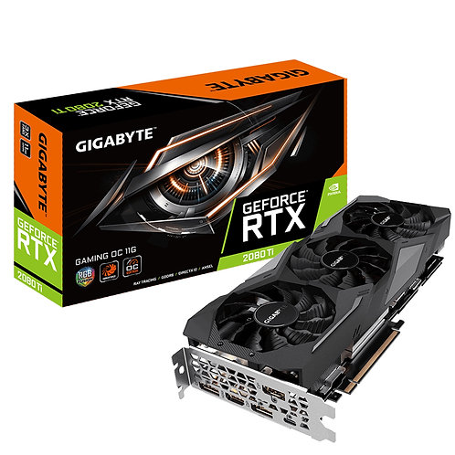 Gigabyte Nvidia GeForce RTX 2080 Ti Gaming OC 11GB Windforce 3X RGB Graphics Car