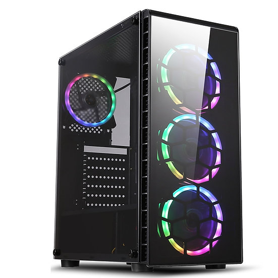 CiT Raider Mid Tower 1 x USB 3.0 / 2 x USB 2.0 Tempered Glass Side & Front