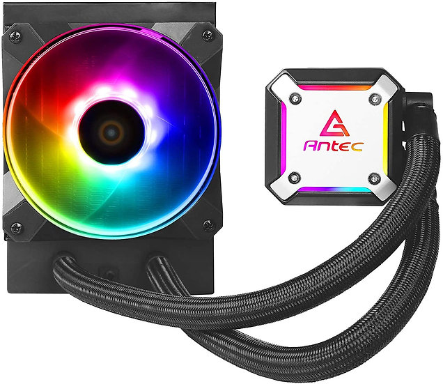 Antec Neptune 120 Liquid CPU Cooler, 120mm Radiator, 12cm PWM ARGB LED Fan