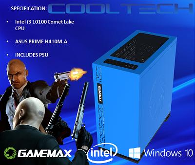 CTBB71 Intel i3 10100 Comet Lake - BAREBONES PC NO RAM NO SSD - PRE-BUILT SYSTEM