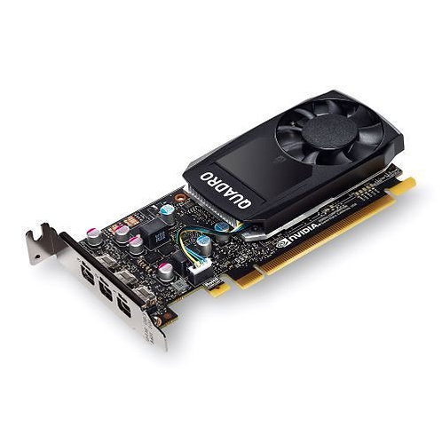 PNY Quadro P400 Professional Graphics Card, 2GB DDR5, 3 miniDP 1.4 (3 x DVI adap