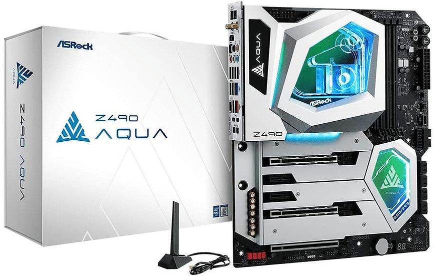 Asrock Z490 AQUA, Intel Z490, 1200, EATX, 4 DDR4, XFire/SLI, HDMI, Thunderbolt3,