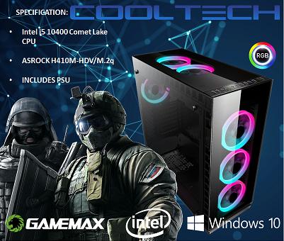 CTBB74 Intel i5 10400 Comet Lake - BAREBONES PC NO RAM NO SSD - PRE-BUILT SYSTEM