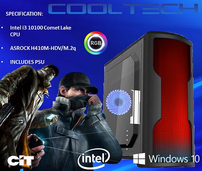 CTBB60 Intel i3 10100 Comet Lake - BAREBONES PC NO RAM NO SSD - PRE-BUILT SYSTEM