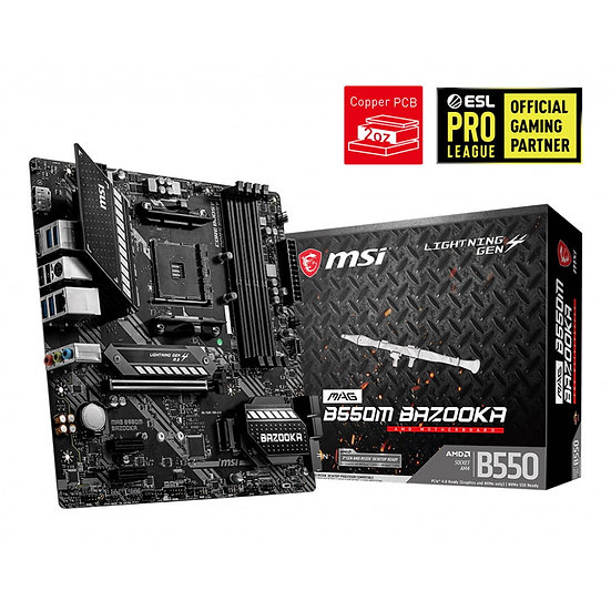 MSI MAG B550M BAZOOKA AMD Socket AM4 Micro ATX HDMI/DisplayPort Dual M.2