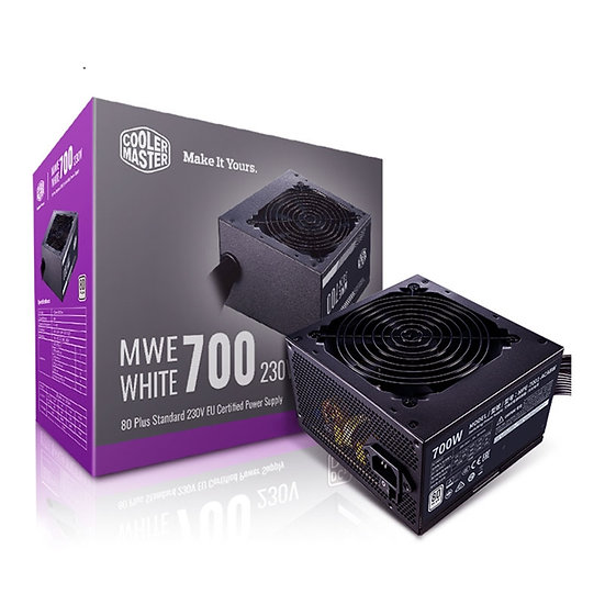 Cooler Master MWE 700W 230V V2 120mm HDB Fan 80 PLUS White PSU