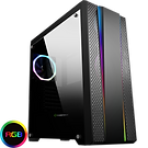 GameMax Demolition RGB Mid-Tower Gaming Case With Rainbow Strip and Rear Fan Syn