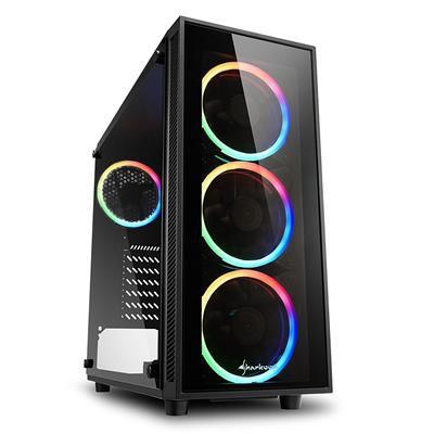 Sharkoon TG4 RGB Black Mid Tower Case (M-ITX/M-ATX/ATX)