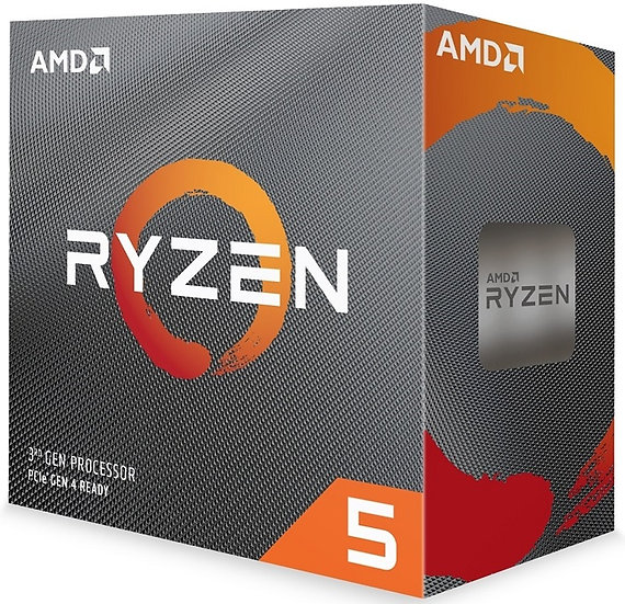 AMD Ryzen 5 3600x 3.8Ghz 6 Core AM4 Overclockable Processor with Wraith Stealth