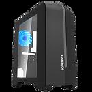 GameMax Centauri Black Grey MATX Gaming Case 1 x 15 Blue LED Rear Fan Side Wind