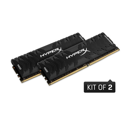 Kingston HyperX 16GB PREDATOR Black Heatsink (2 x 8GB) DDR4 3000MHz DIMM System