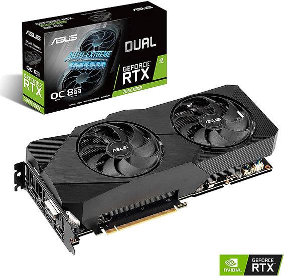 Asus DUAL RTX2060 SUPER EVO OC V2, 8GB DDR6, DVI, 2 HDMI, DP, 1725MHz Clock