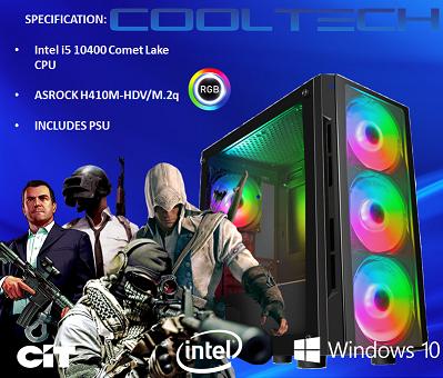 CTBB82 Intel i5 10400 Comet Lake - BAREBONES PC NO RAM NO SSD - PRE-BUILT SYSTEM
