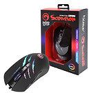 Marvo Scorpion M312 USB RGB LED Black Programmable Gaming Mouse