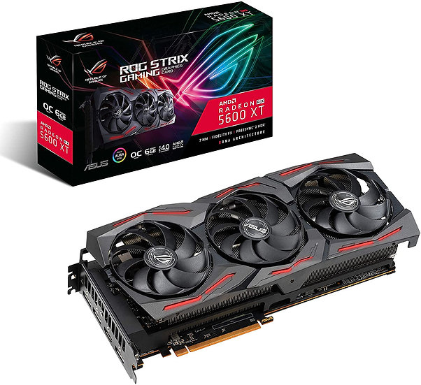Asus ROG STRIX RX5600 XT OC, 6GB DDR6, PCIe4, HDMI, 3 DP, 1770MHz Clock, RGB