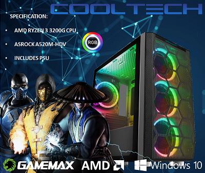 CTBB91 AMD RYZEN 3 3200G BAREBONES PC - NO MEMORY NO HARDDRIVE