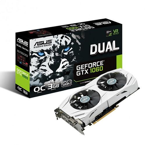 Asus GTX1060 DUAL OC, 3GB DDR5, DVI, 2 HDMI, 2 DP, 1809MHz Clock