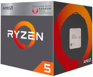 AMD Ryzen 5 2400G CPU with Wraith Cooler, AM4, 3.6GHz, Quad Core, 65W, 6MN Cache