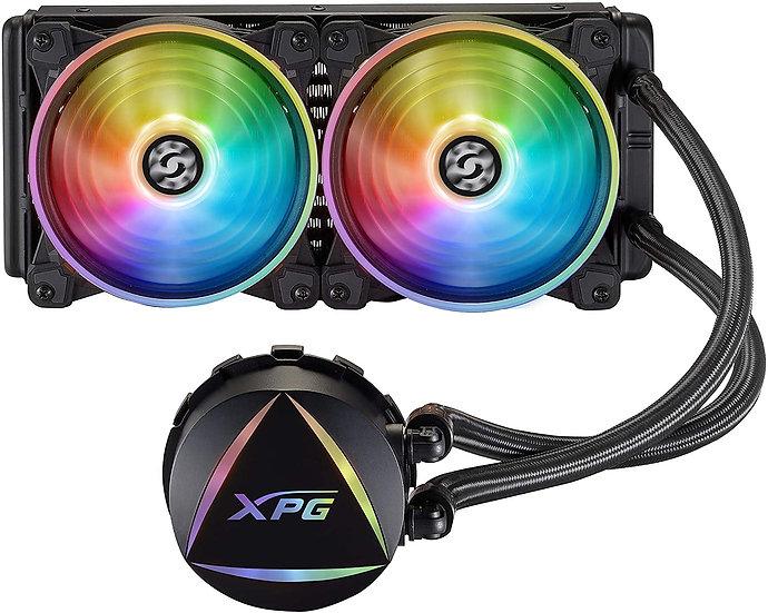 ADATA XPG Levante 240 ARGB Liquid CPU Cooler, 2 x 12cm ARGB PWM Fans