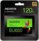 """ADATA 120GB Ultimate SU650 SSD, 2.5"""", SATA3, 7mm, 3D NAND, R/W 520/320 MB/s, 75K"""