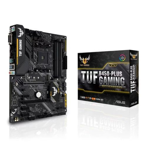 Asus TUF B450-PLUS GAMING, AMD B450, AM4, ATX, 4 DDR4, XFire, DVI, HDMI